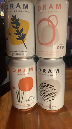 DRAM 4 Can Sampler Pack With CBD
