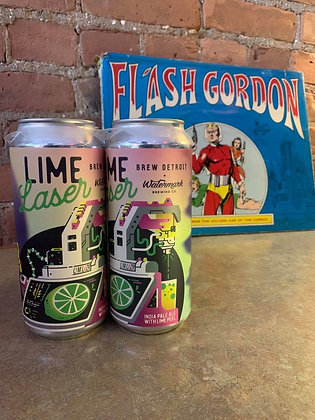 Brew Detroit & Watermark Lime Laser IPA 16oz 4 Pack