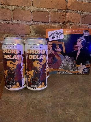 Brew Detroit Smoke Delay Juicy Session IPA 16oz 4 Pack
