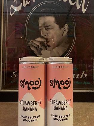Troobado Smooj Strawberry Banana Seltzer Smoothie 4 Pack