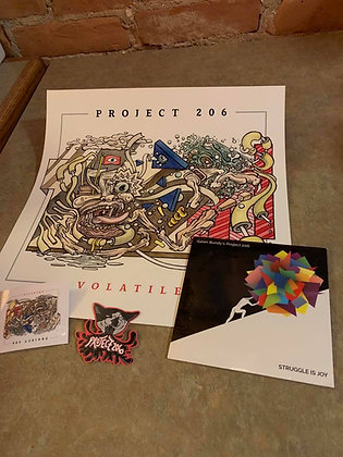 Galen Bundy's Project 206 CD, Stickers, Poster