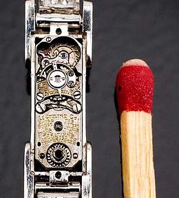Kleinste mechanische Uhrwerk