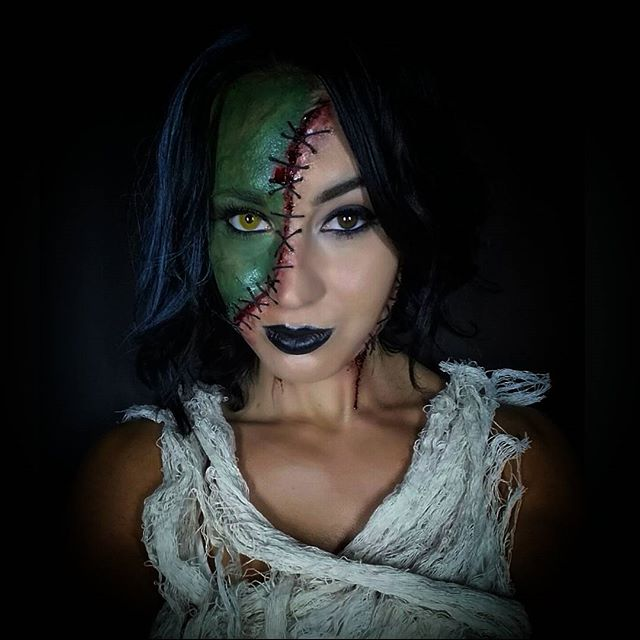 Bride of Frankenstein Makeup