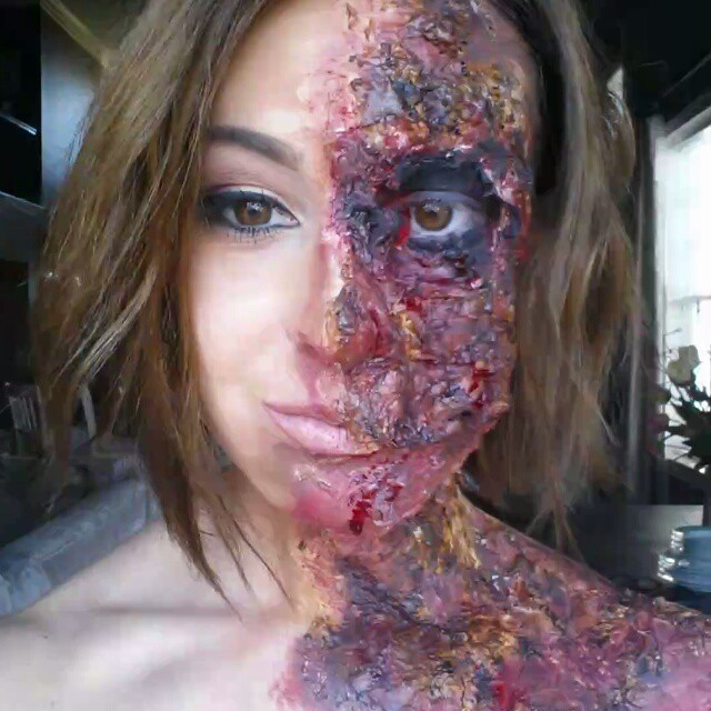 Burn Victim Makeup