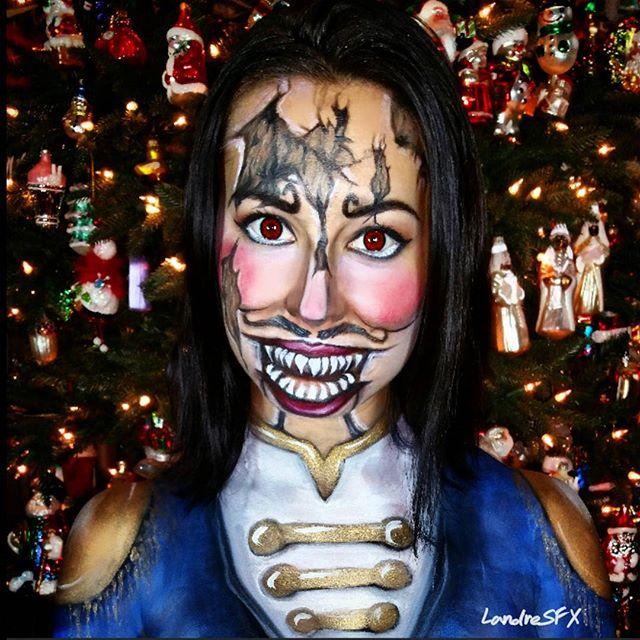 Evil Nutcracker Christmas Body Paint