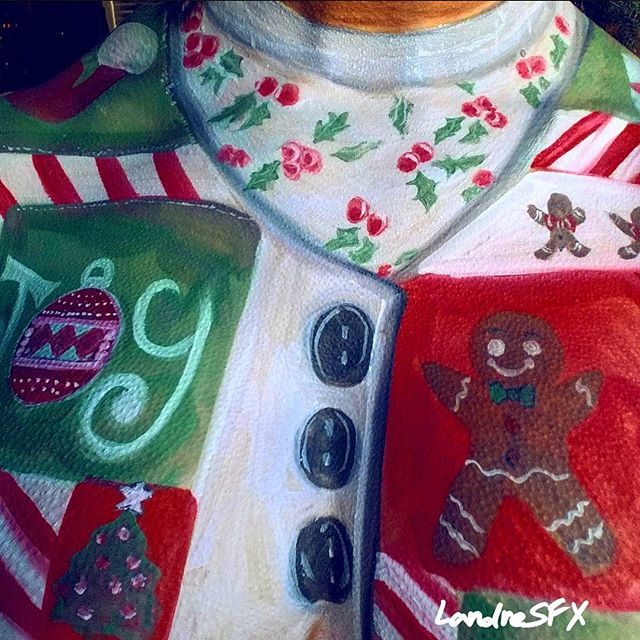 Ugly Christmas Sweater Body Painting