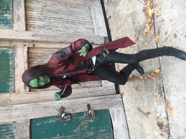 Gamora Halloween Costume  Makeup