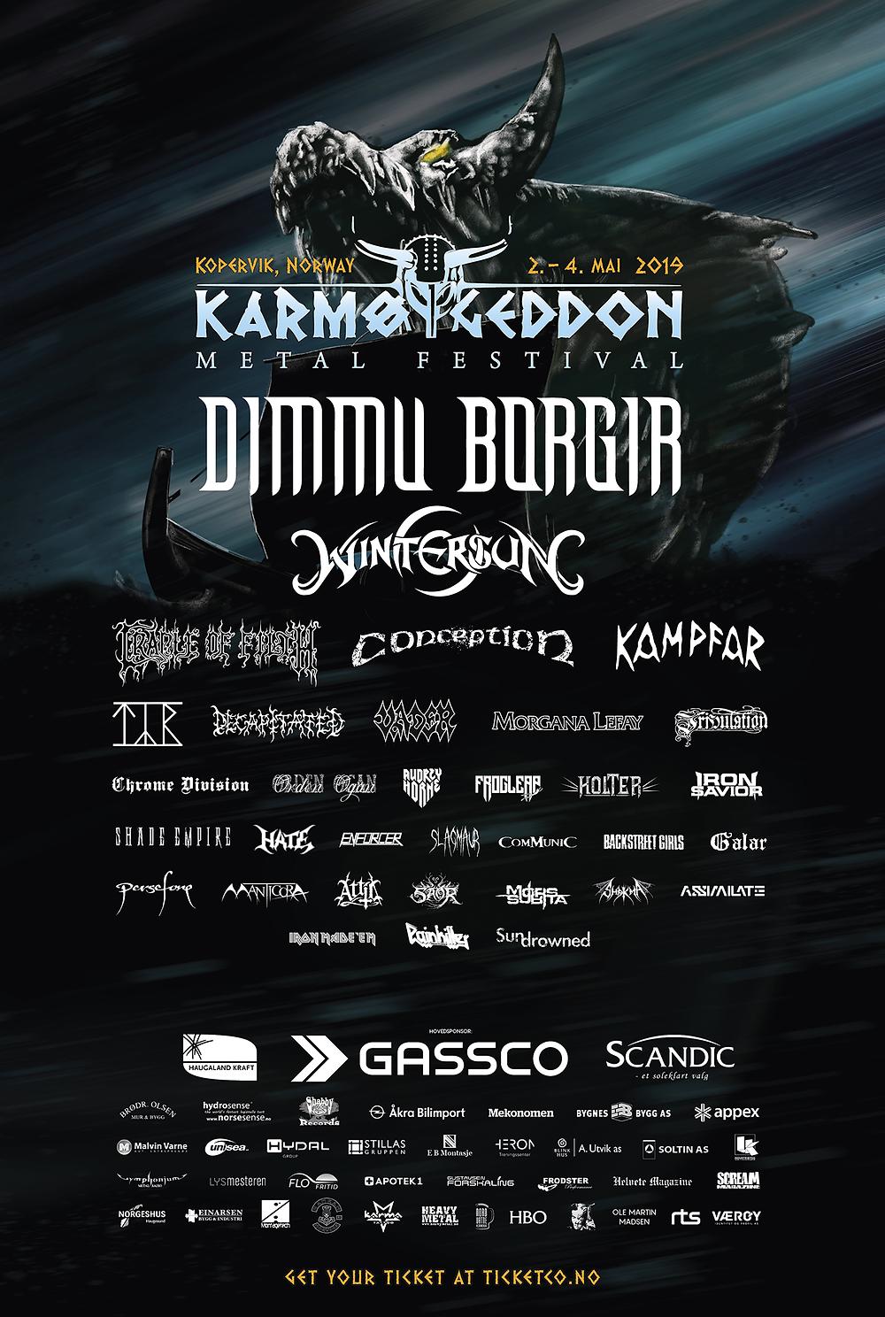 The 2019 Karmøygeddon Festival Poster