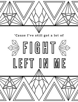 Fight Song Coloring Page