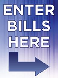 Predesigned Plate: Enter Bills Here