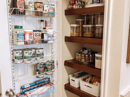 Pantry Makeover :: Renter Friendly + Low Budget!