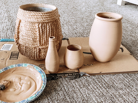 Thrifted DIY - Faux Terra-Cotta Vases