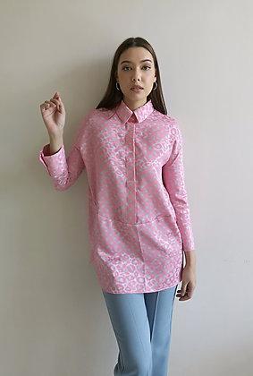 Pink Polka dot shirt blouse