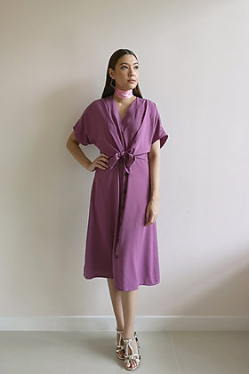 Plum Front Wrap Dress