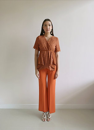 Copper Boot Cut Tailored Trousers