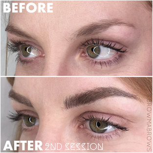 After 2nd Session Brown Brow Microblading
