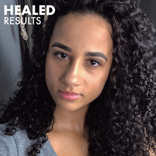 Healed Microblading Thick Black Brows