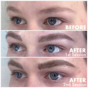 Thick Microbladed Brows