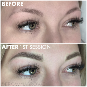 First Session Microblading results