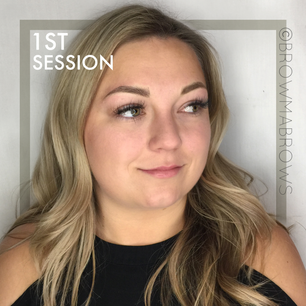 Blonde First Session Blonde Microblading Results