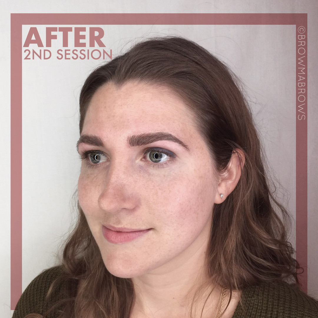After 2nd Session Microblading Full Face