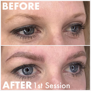 Light Color Brows Microblading After 1st Session