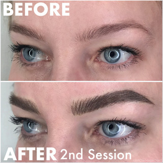 Defined Brows in just 2 microblading sessions