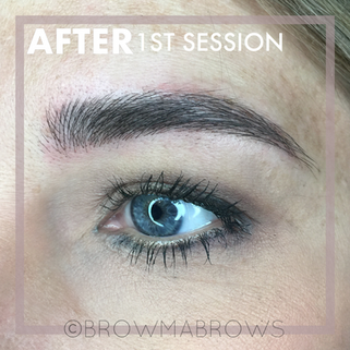 Thick Brows after 1st Microblading Session
