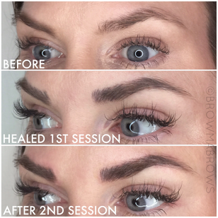After 2nd Session Microblading Results Fort Collins Browma