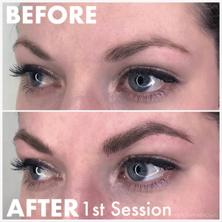 After First Session Microblading Results