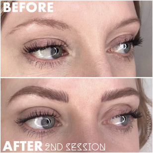 Defined Brow Arch after 2nd Session