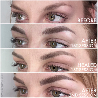 4 photo microblading comparions Fort Collins Browma