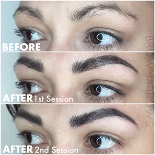 After 2nd Session Raven Brow Microblading