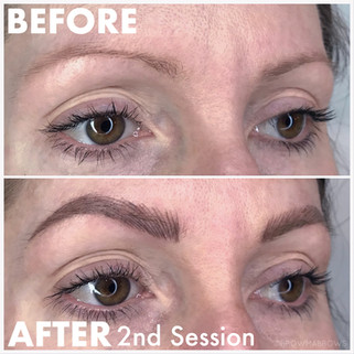 2nd Session Microblading Results thin Brow fix