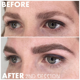 Before and After Brunette Microblading
