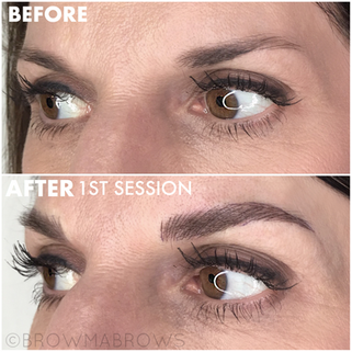 Sparse Brows after 1st Session Microblading