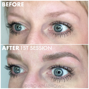 Blonde Microblading First Session Results