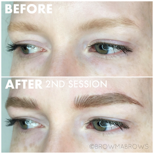 Light Brow Microblading Full Face Results