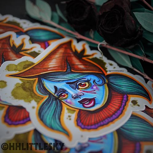 Woodland Witch Sticker
