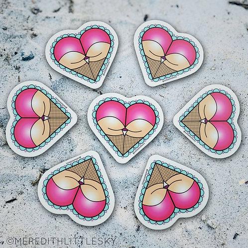 Butt Heart Sticker