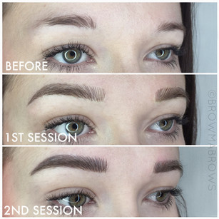 Microbladed Brows after 2 Sessions