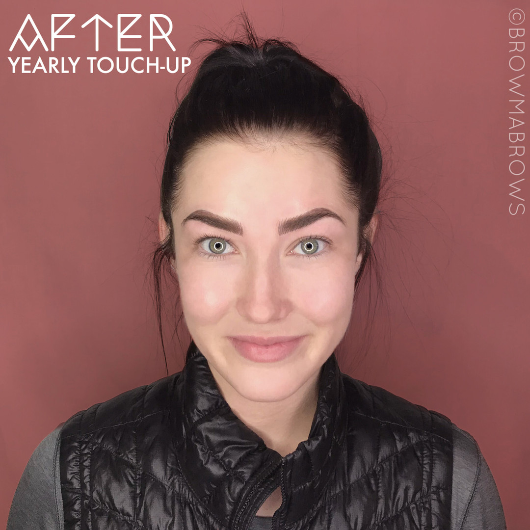 After Yearly Touch-Up Microblading Full Face Arch