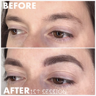 After 1st Session Microblading