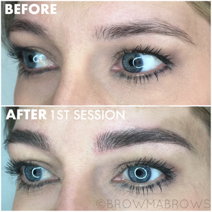 Thick Full Brows Microblading