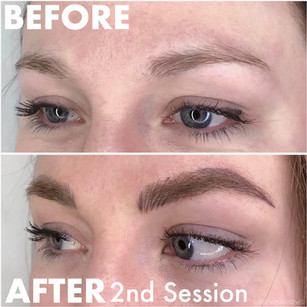From No Brow to Full Brow Microblading