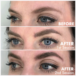After 2nd Session Microblading Results Comparison
