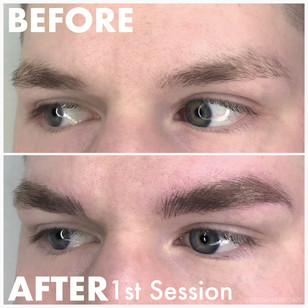 Male Microblading Thick Brow Restoration