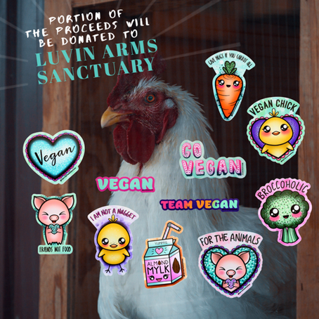Luvin Arms Tour & Vegan Sticker Pack