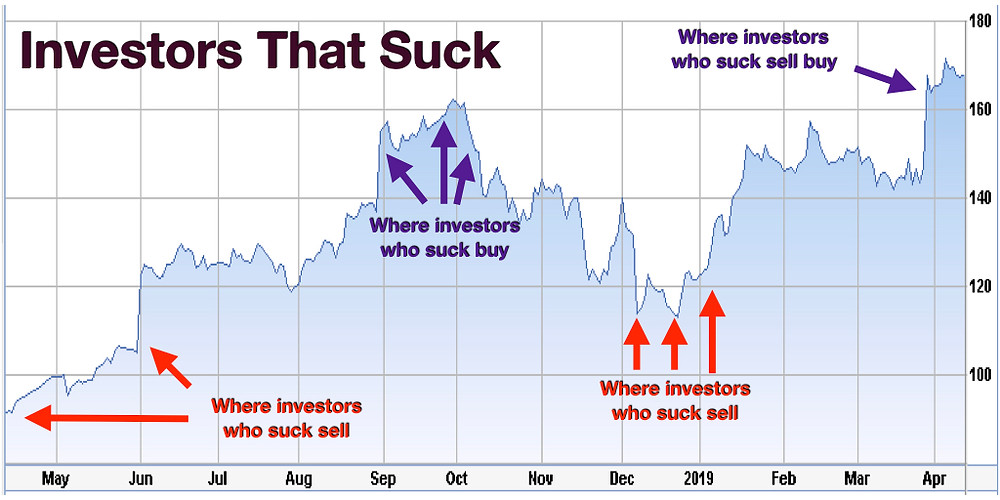 Investors who suck buy high and sell low