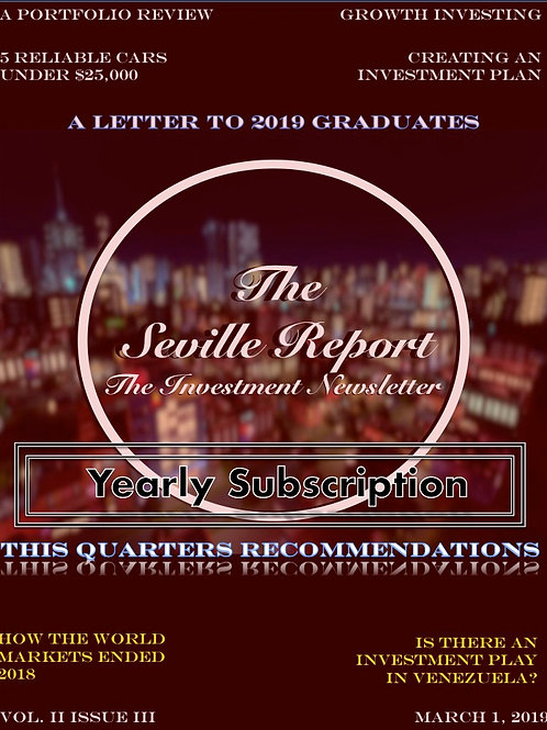 The Seville Report Yearly Subscription